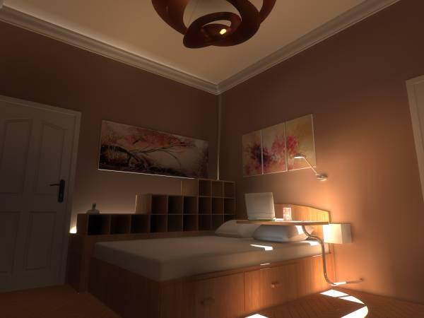 Image bed corner perspective...