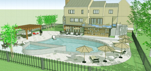 Image Backyard Pool and Patio