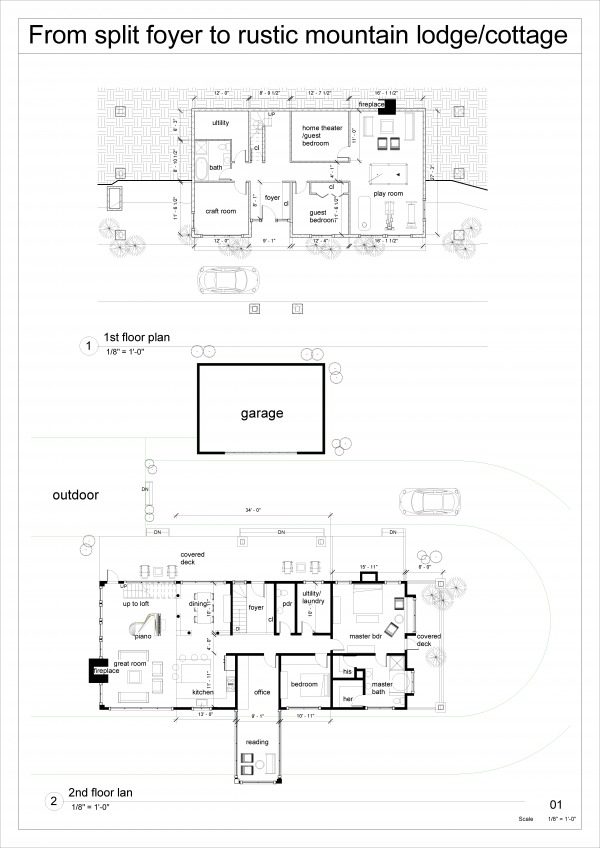Image The proposal floor plans