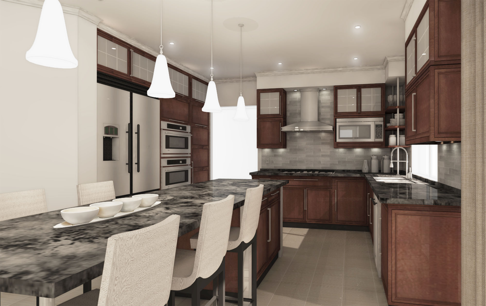 Kitchen Design Designed By Ming Fu Nilakshi Roy