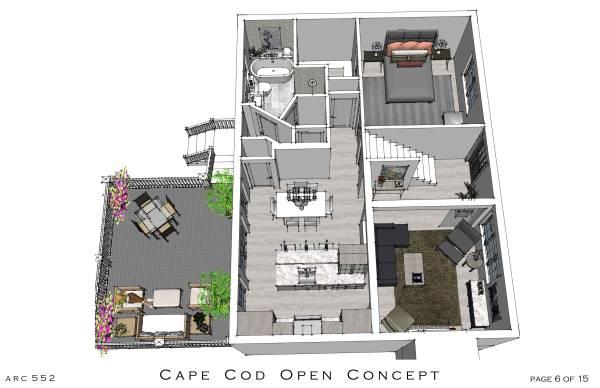 Entire Floor Designed By Arcadia Design 1st Floor Cape Cod Open