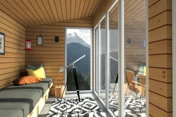 Image Mountain chalet interi...
