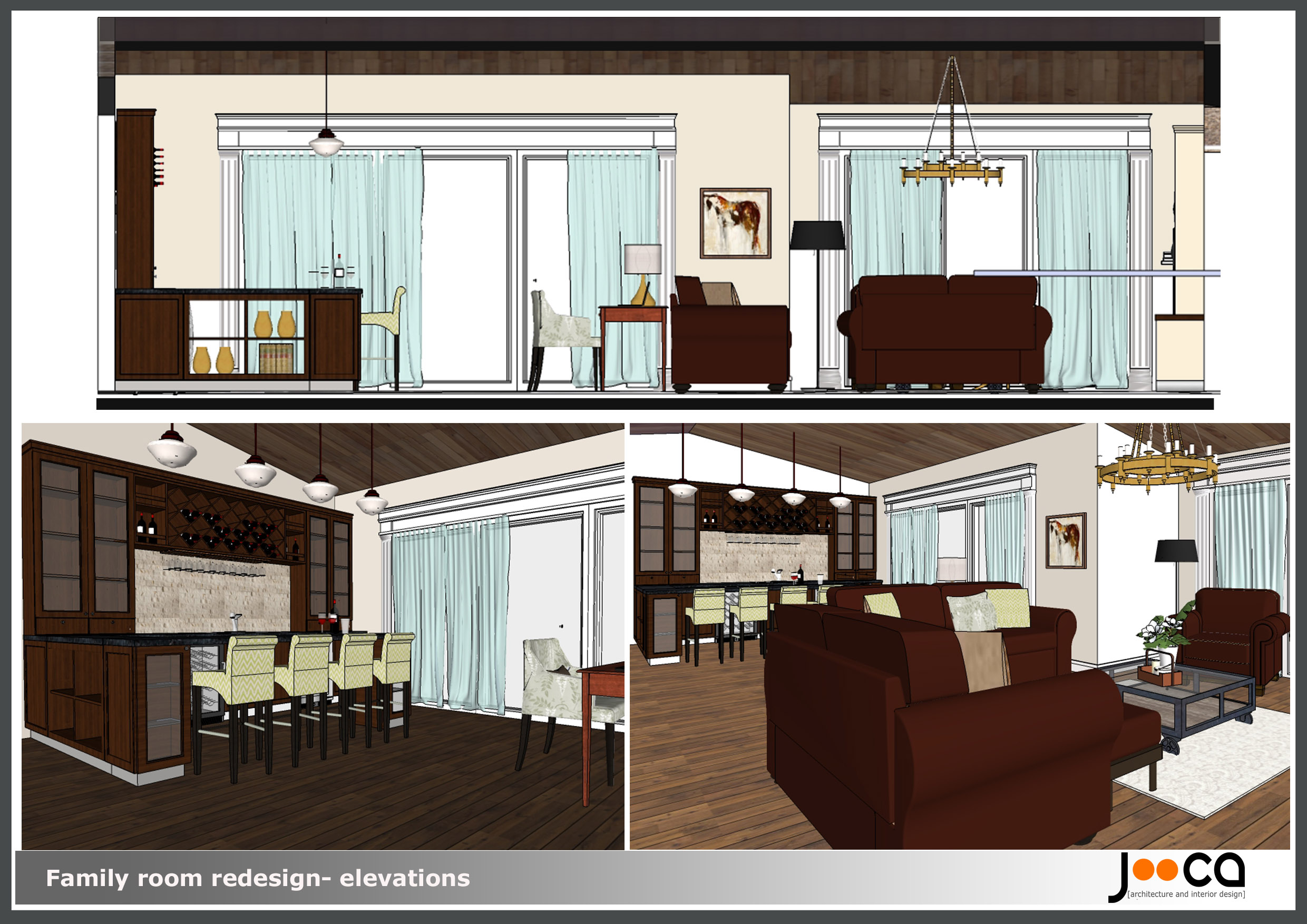 Viewdesignerproject projectinterior living for Redesign room layout