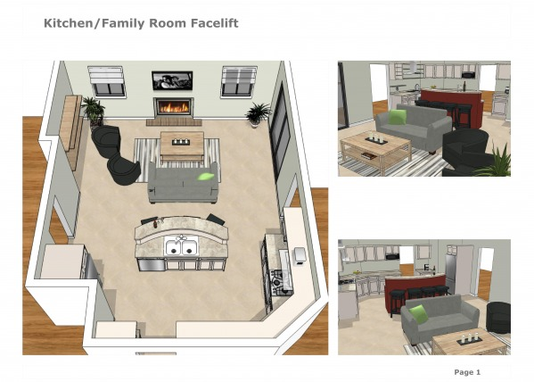 Image Kitchen/Family Room Fa...