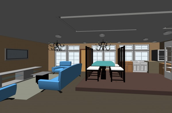 Image Open plan style betwee...