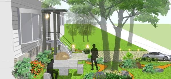 Image Suburban landscape design