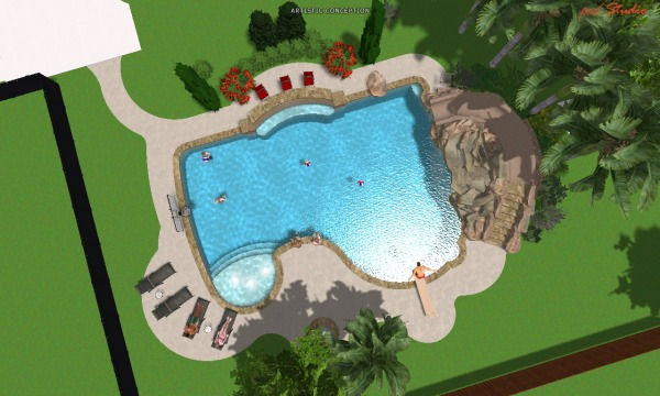 Image overview of new pool. ...