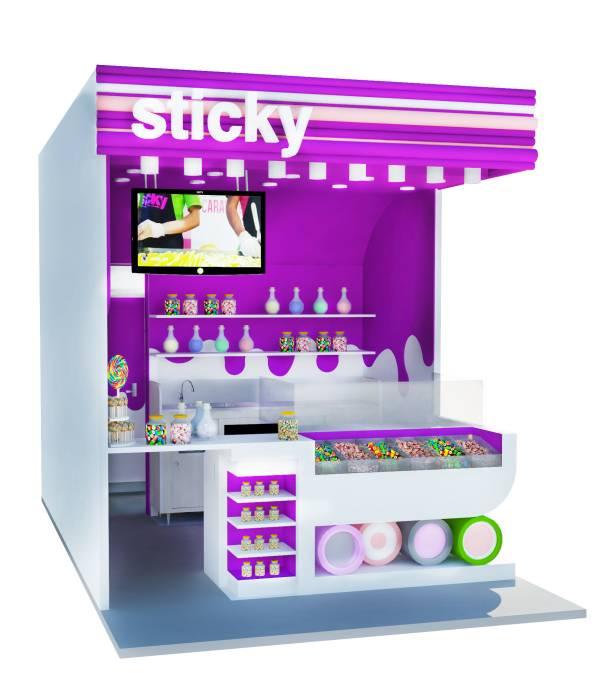 Image sticky kiosk
