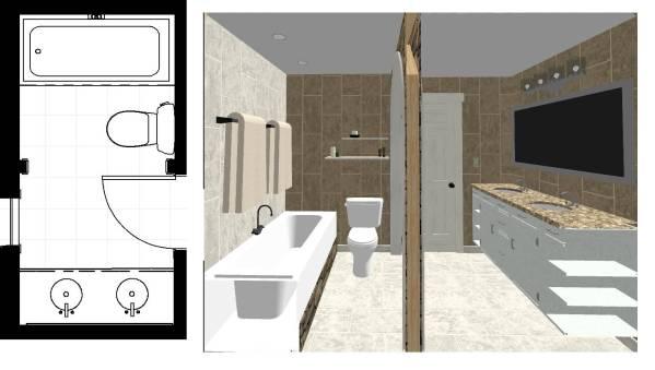 Image Bathroom layout