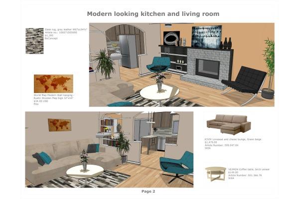 Image Modern looking kitchen... (2)