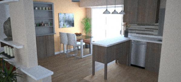 Image Modern looking kitchen...