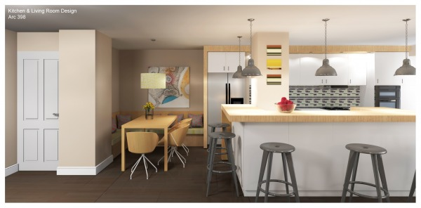 Image Kitchen & Living Room ...