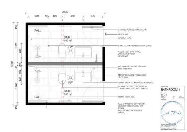 Bathroom 1 Plan