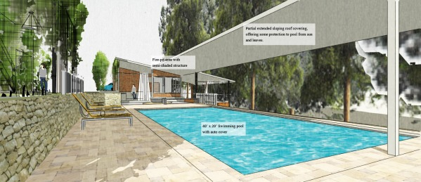 Image Backyard Pool, Deck an...