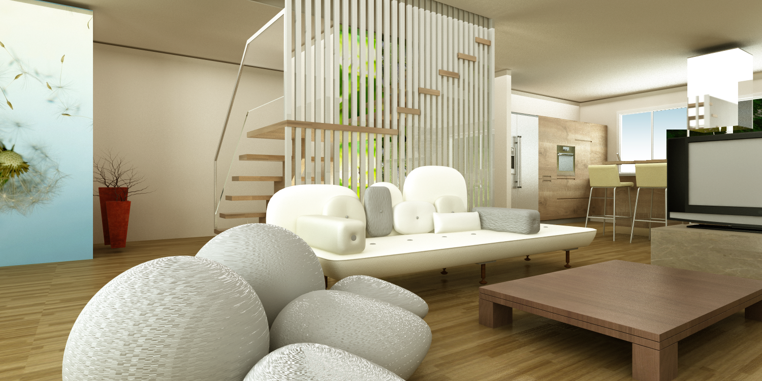 Zen living room design home interior design for Modern zen interior design living room