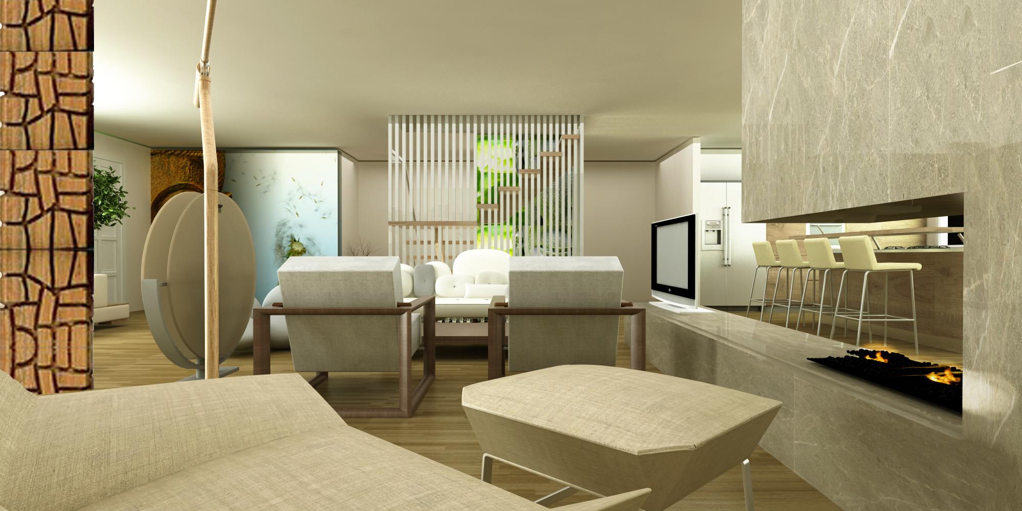 Viewdesignerproject projectliving room for Living room zen design