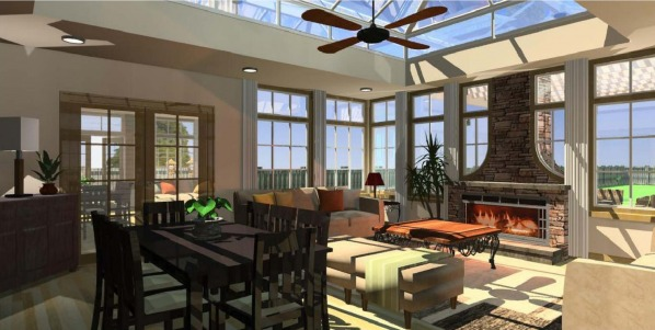 Image sunroom/ orangery with...