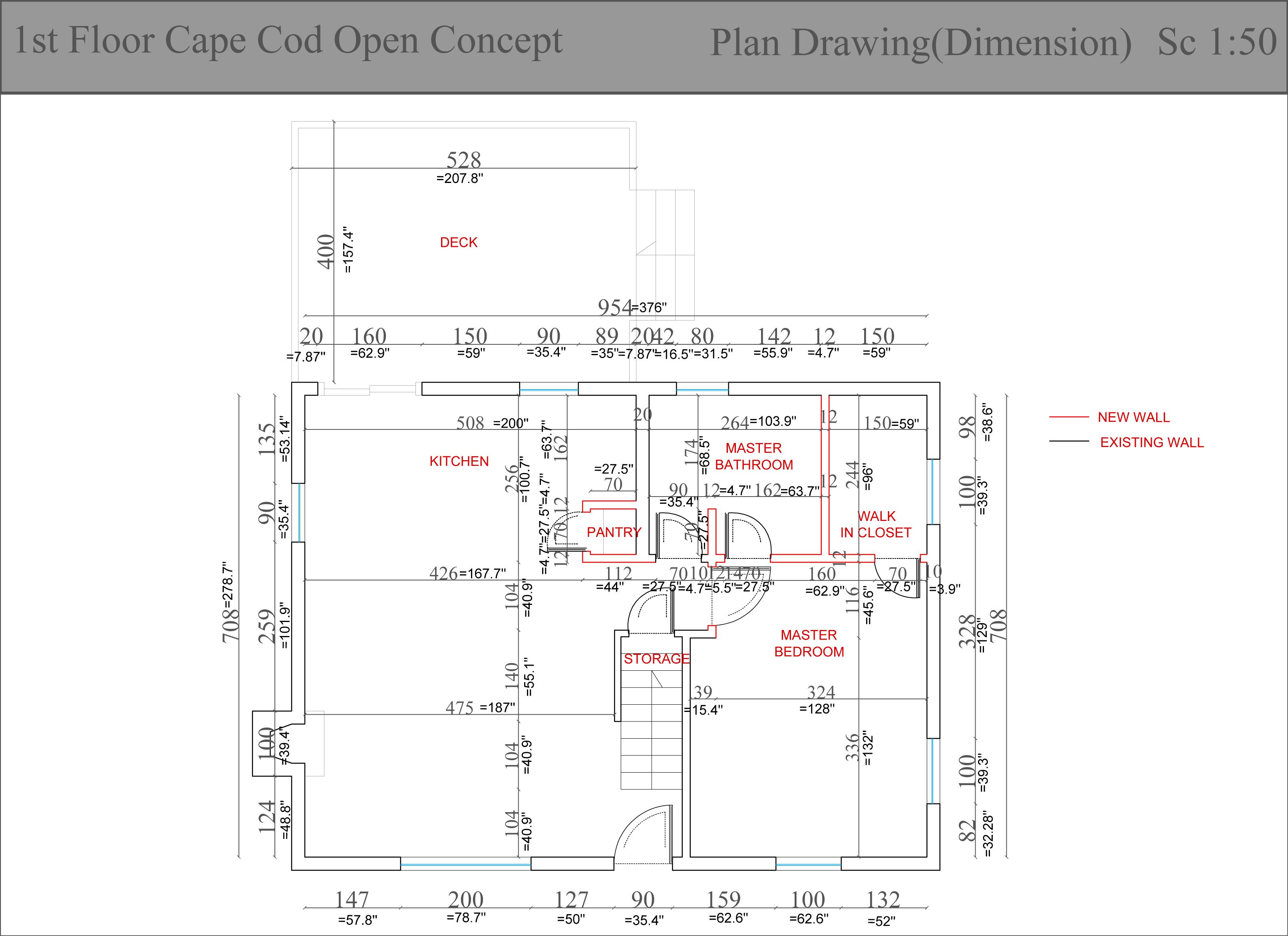 Entire floor design project designed by fatjona fatjona for Cape cod open floor plan
