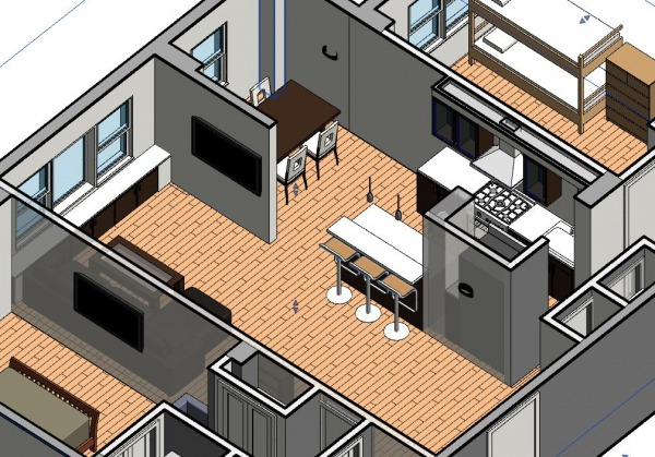 Image Living space 3D