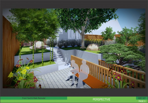 Image Front yard and walk re...