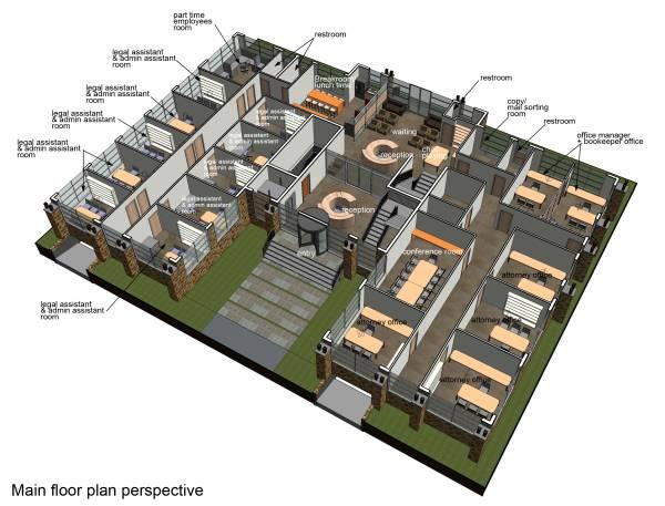 Law Office Floor Plan: Office Buildings Designed By Libra. K
