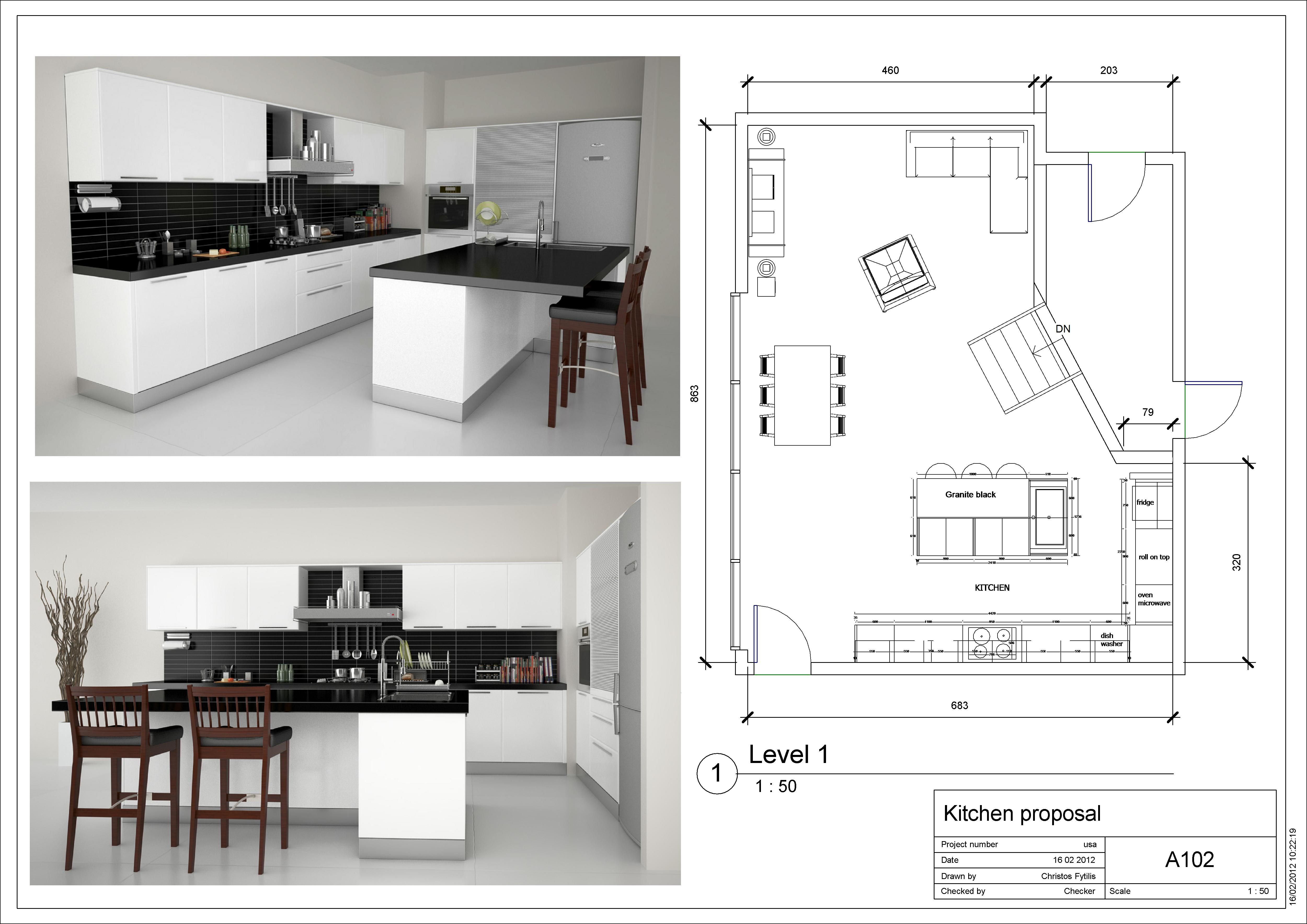 Kitchen floor plan layouts designs for home for Kitchen floor plans