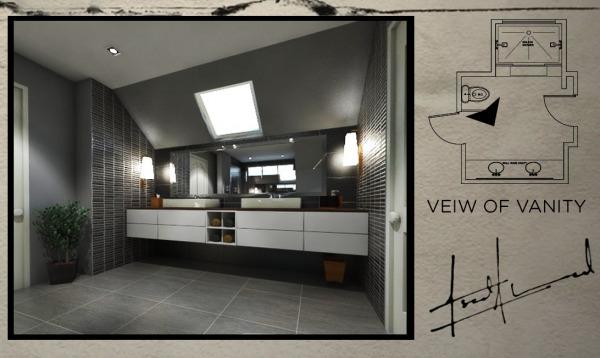 3D Render of Vanity area