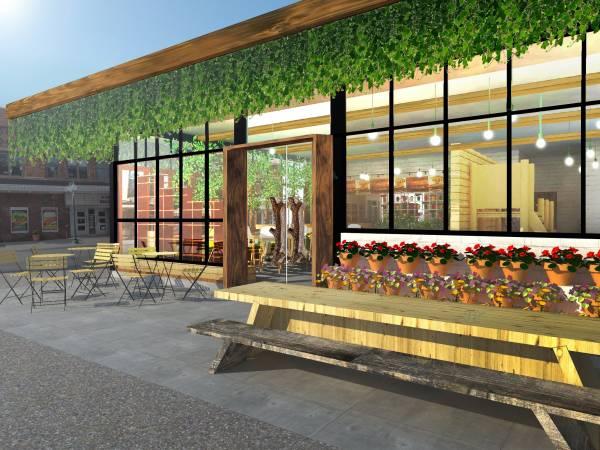 Image facade + outdoor seating