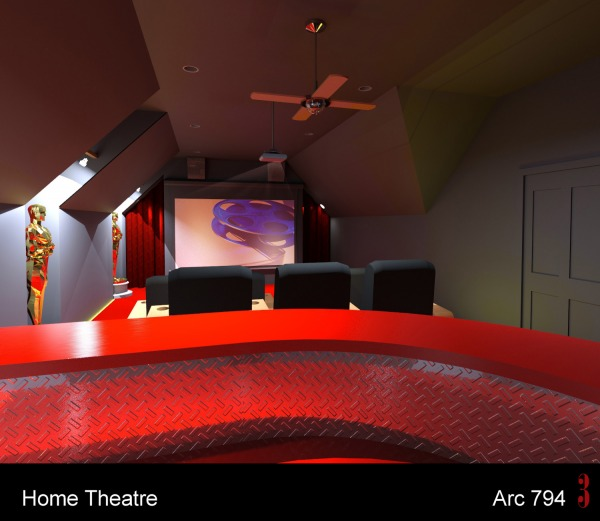 Image Home Theater over Garage! (1)