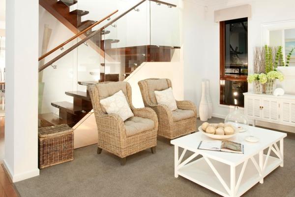 Image Modern Stairs Glass Ra...