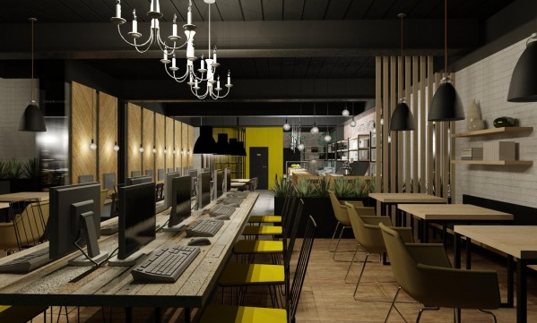Commercial Offices Store Designed by Annie Yakimova Internet