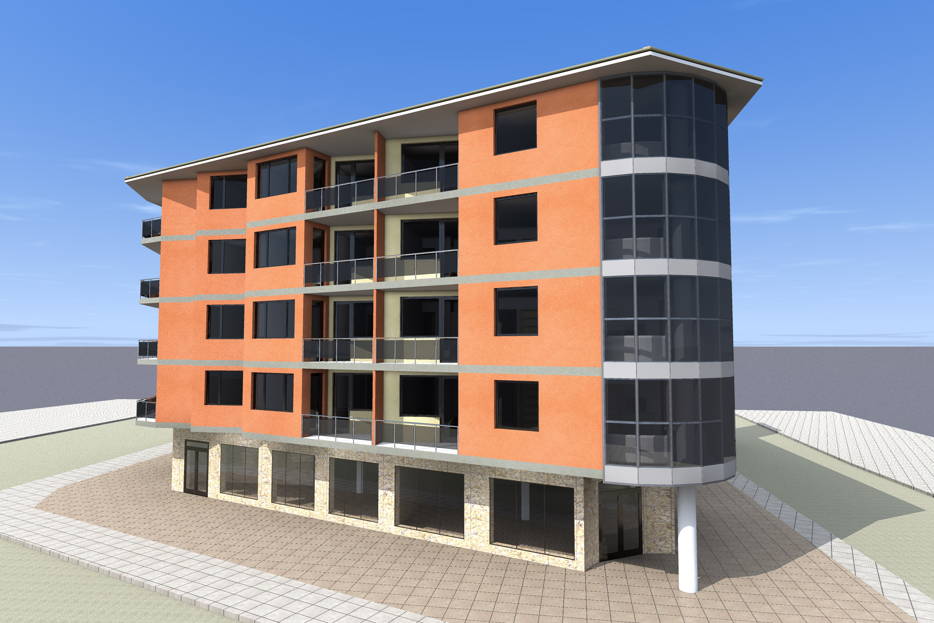 Apartment building plans 8 units via 4 bp unit apartment for Apartment building plans 8 units