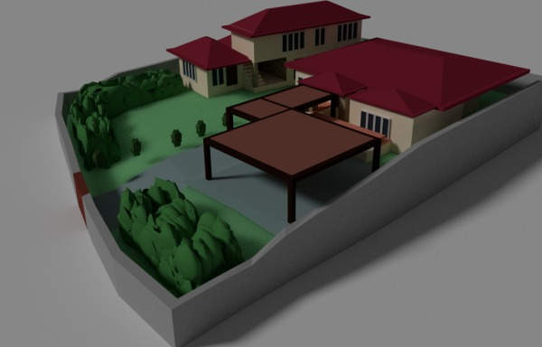 Image House design and lands...
