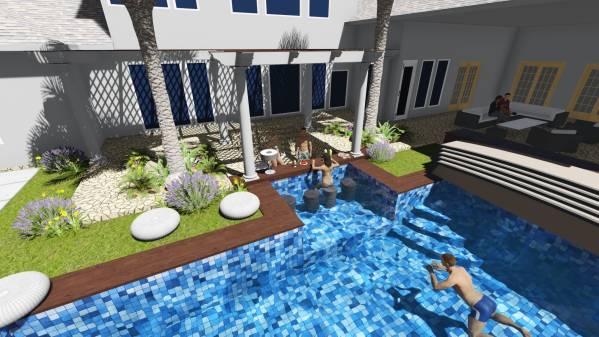 Image FUN!!! Pool, Backyard,...