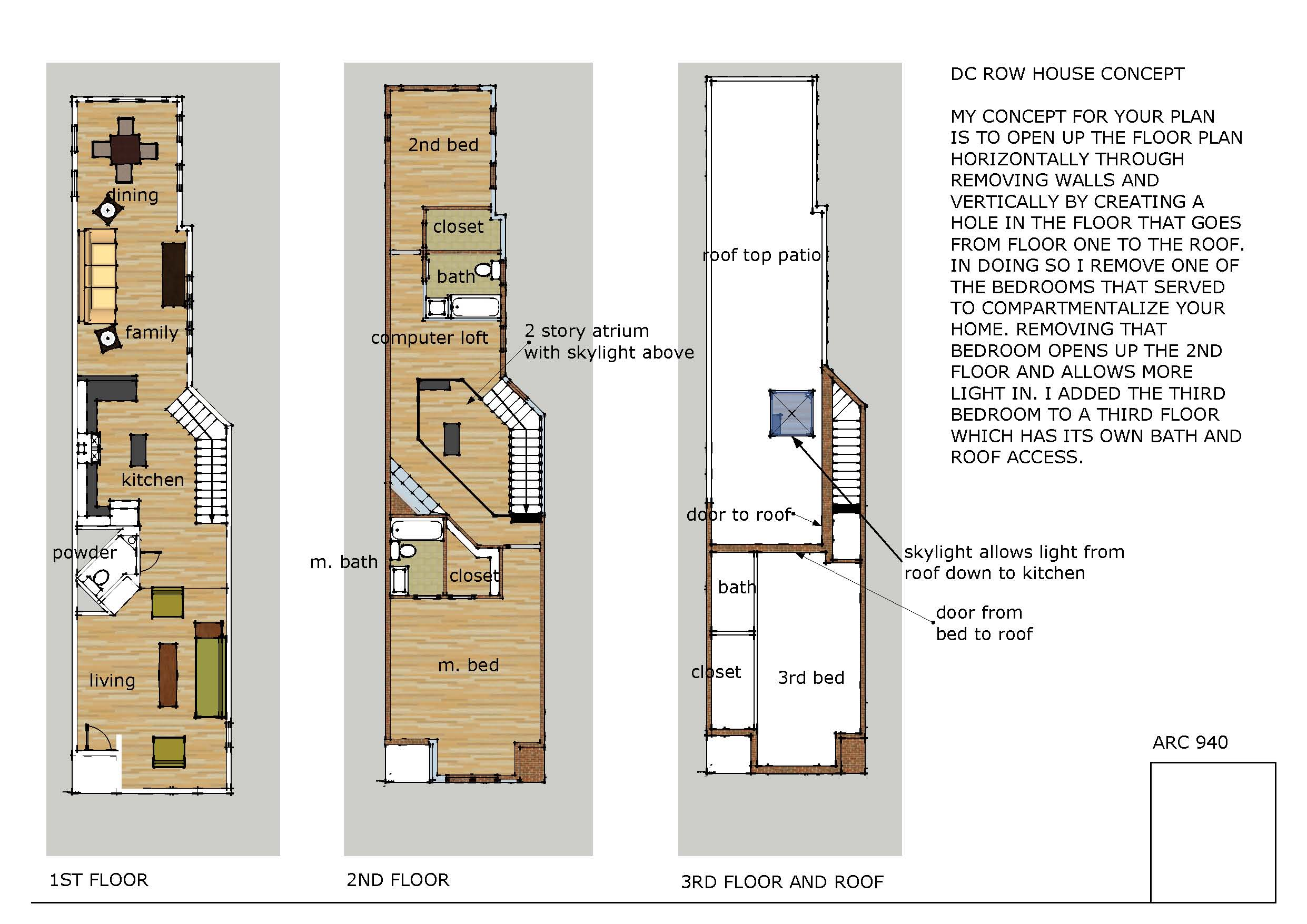 Modern Row House Floor Plans Wood Floors