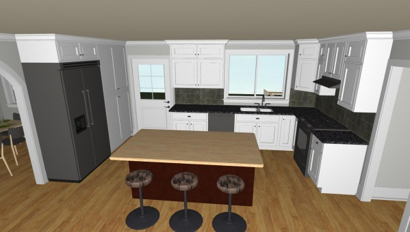 Image Renovated kitchen view
