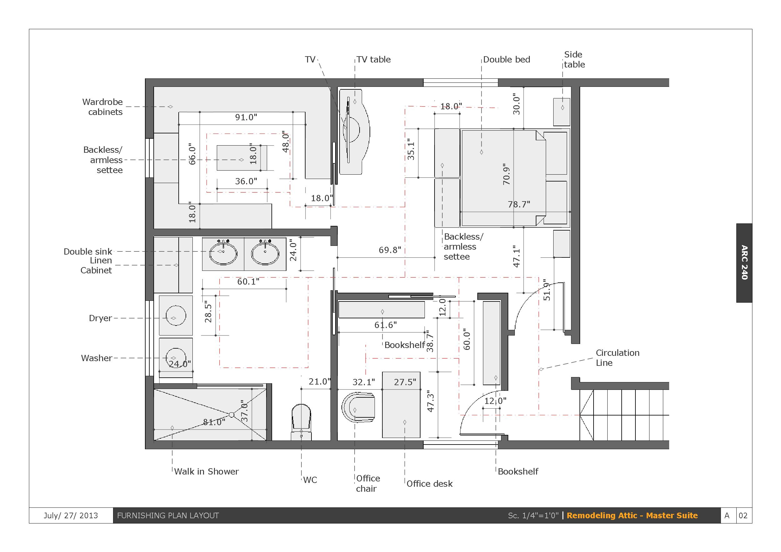 Viewdesignerproject projectattic conversion designed by edlira koleci oku - Master bedroom layouts ...