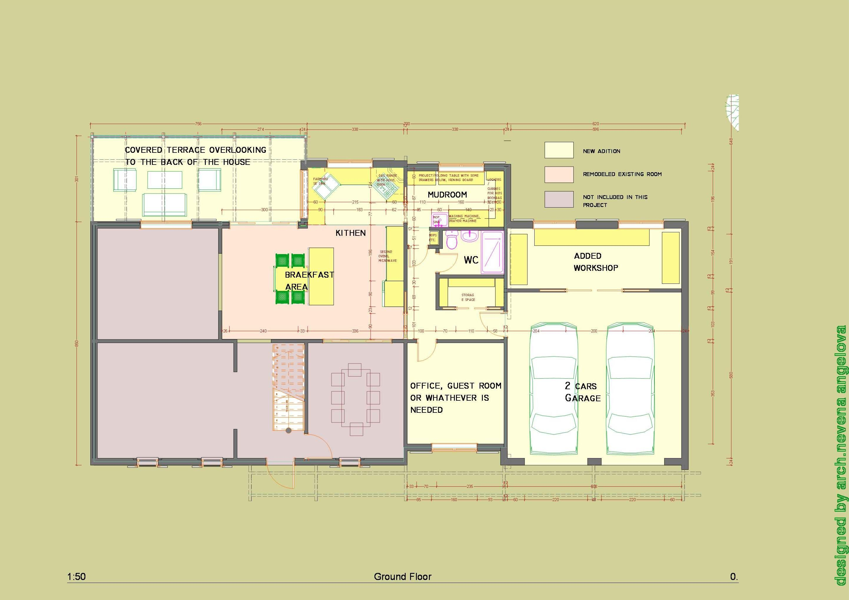 Floor plans designed by nevena angelova home addition for Floor plans for home additions