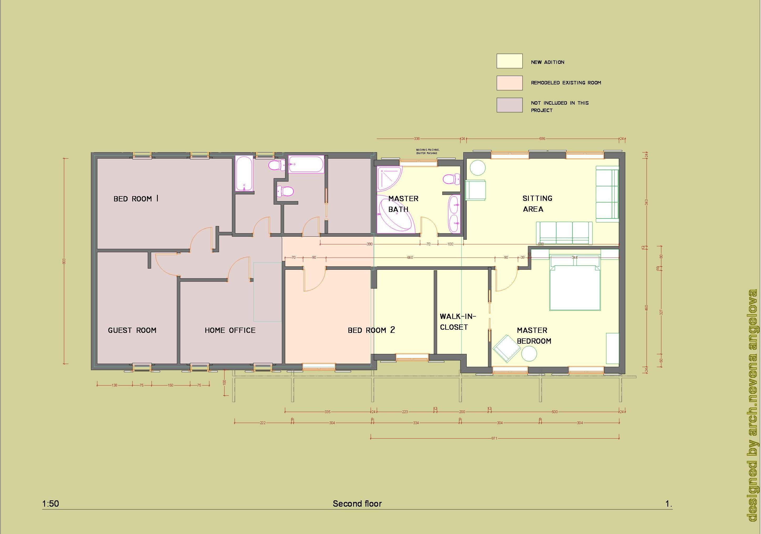 Floor plans designed by nevena angelova home addition for Home addition floor plans