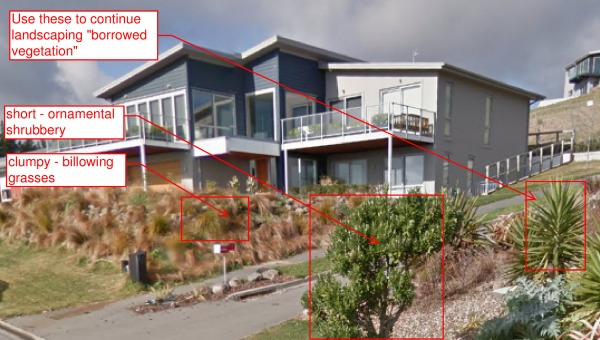 Single family homes designed by bob ketchel christchurch for Residential landscape design christchurch
