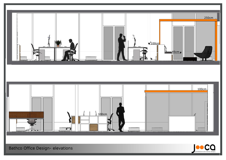 Viewdesignerproject projectoffice design for Interior elevation designs