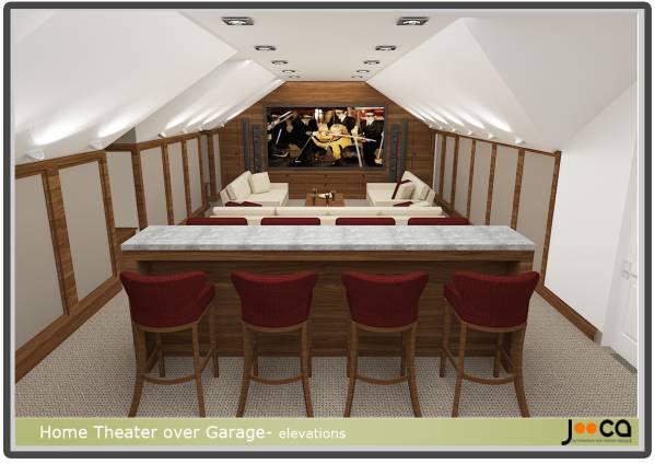 Attic Designed By Jooca Studio Home Theater Over Garage