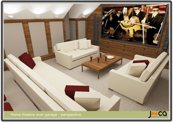 Image Home Theater over Garage! (0)