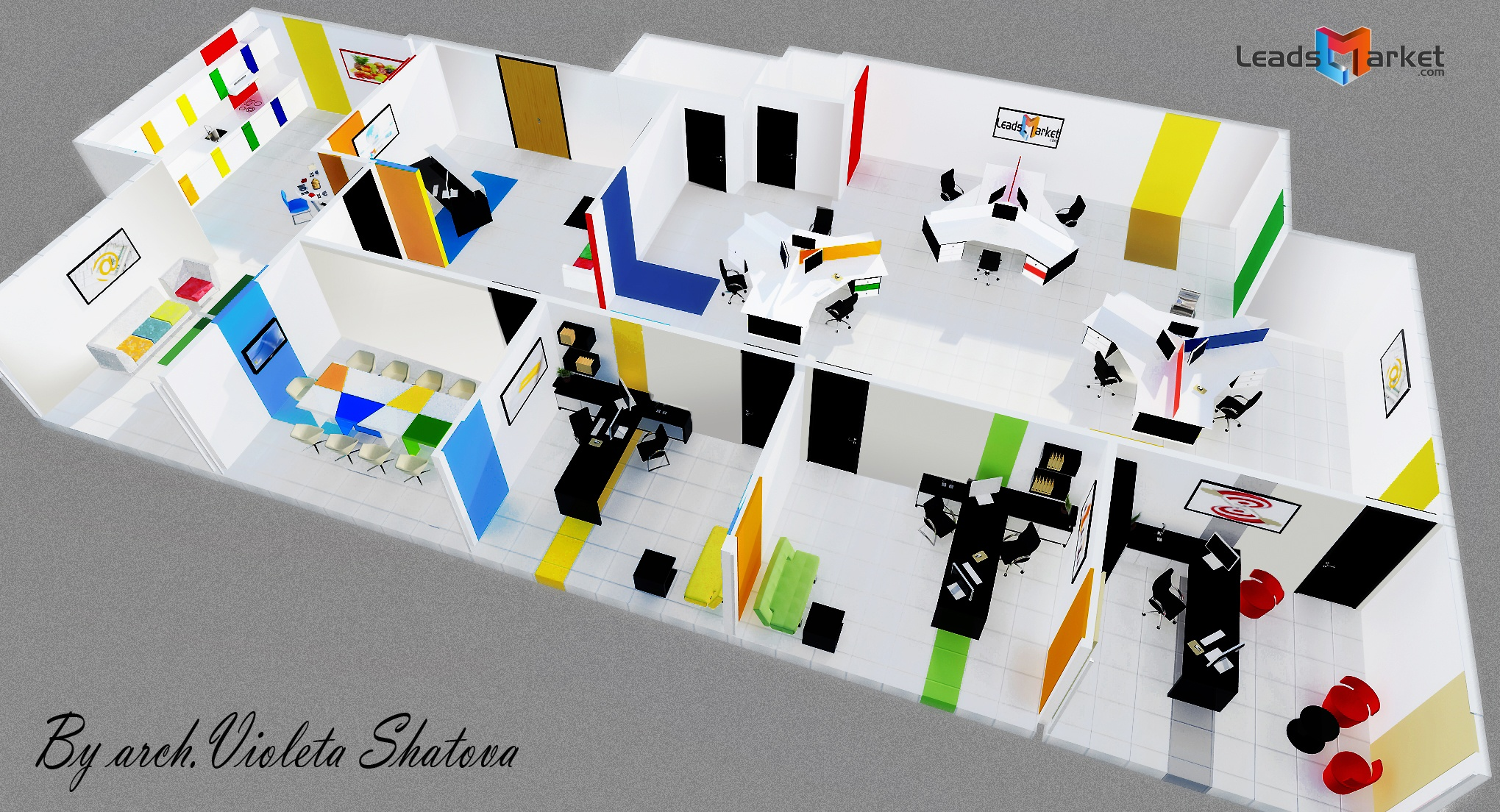 Viewdesignerproject projectoffice buildings for Office design 3d