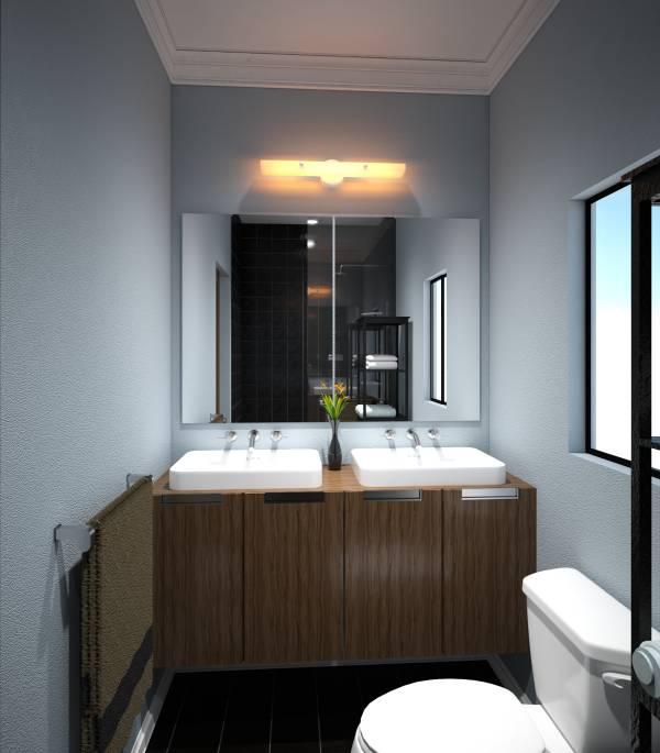 Image Small Master Bathroom ... (1)