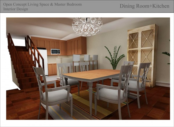 Image dining area+kitchen
