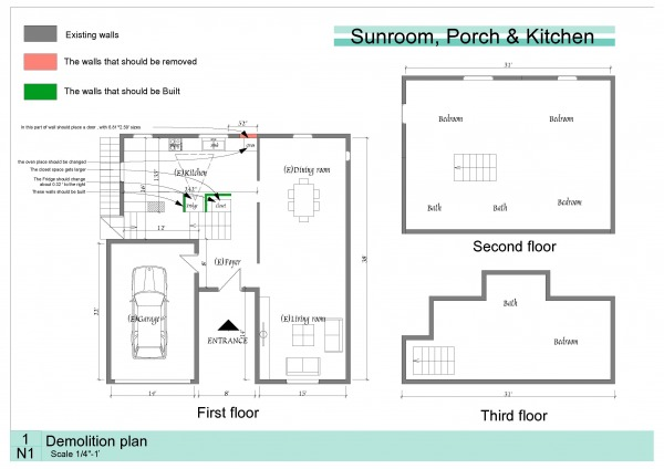 Image Sunroom, Porch & Kitchen