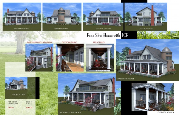 Multi story family homes designed by lawrence martin for Icf home designs