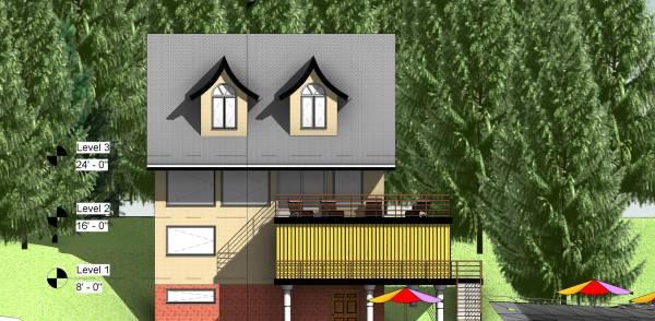 Image Seaside cottage elevat...