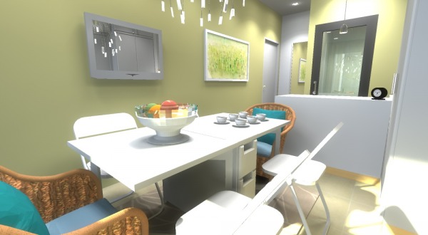 Furniture layout option 1